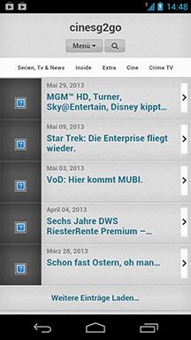 cinesg2go jetzt auch für iOS aufgehübscht.